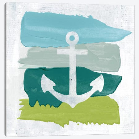 Seaside Swatch Anchor 3-Piece Canvas #WAC7319} by Moira Hershey Art Print