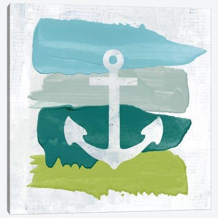 Seaside Swatch Anchor Canvas Print #WAC7319} by Moira Hershey Art Print