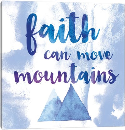 Words Of Faith II Canvas Art Print