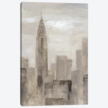 City Blocks In Greige I Canvas Print #WAC7329} by Silvia Vassileva Canvas Artwork