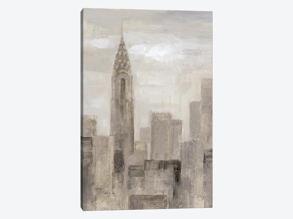 City Blocks In Greige I 1-piece Canvas Art Print
