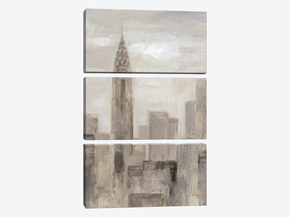 City Blocks In Greige I by Silvia Vassileva 3-piece Art Print