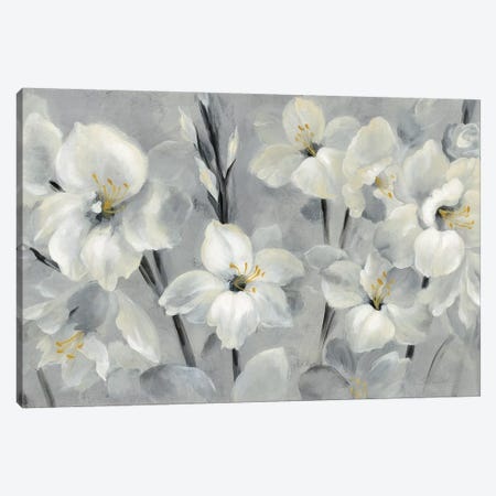 Flowers On Gray Canvas Print #WAC7333} by Silvia Vassileva Canvas Art Print