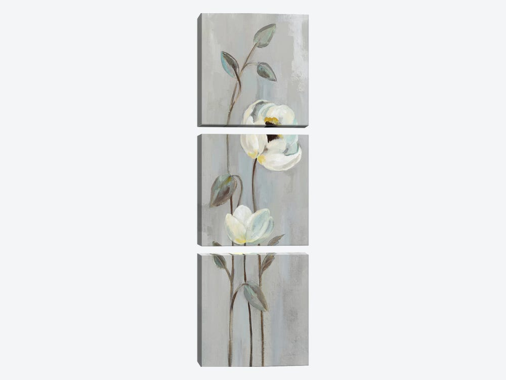 Neutral Branches On Gray I by Silvia Vassileva 3-piece Canvas Art Print
