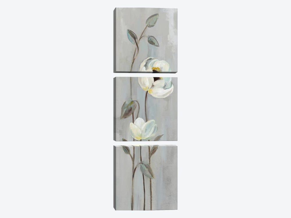 Neutral Branches On Gray I by Silvia Vassileva 3-piece Canvas Art Print
