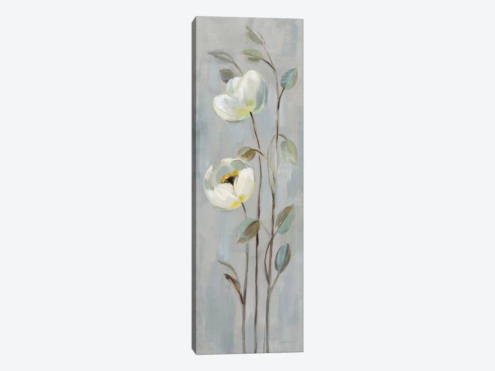 Neutral Branches On Gray II by Silvia Vassileva 1-piece Canvas Art
