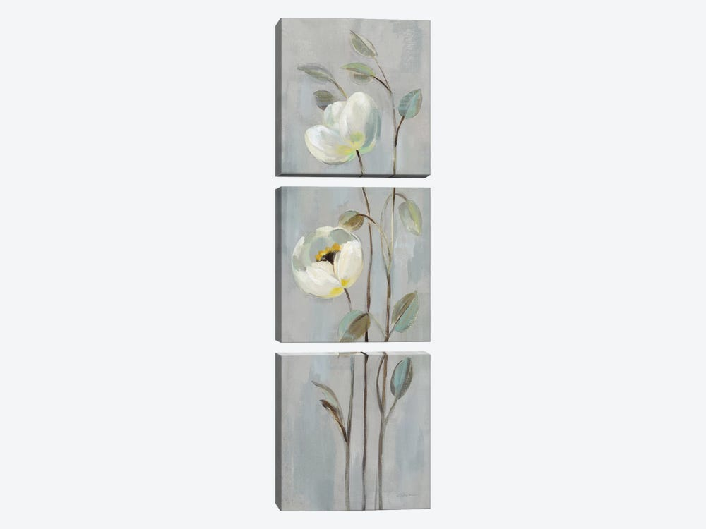 Neutral Branches On Gray II by Silvia Vassileva 3-piece Canvas Artwork