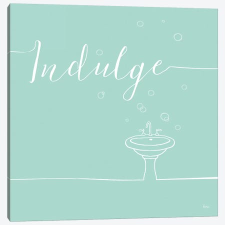 Underlined Bath In Teal III Canvas Print #WAC7351} by Veronique Charron Canvas Print