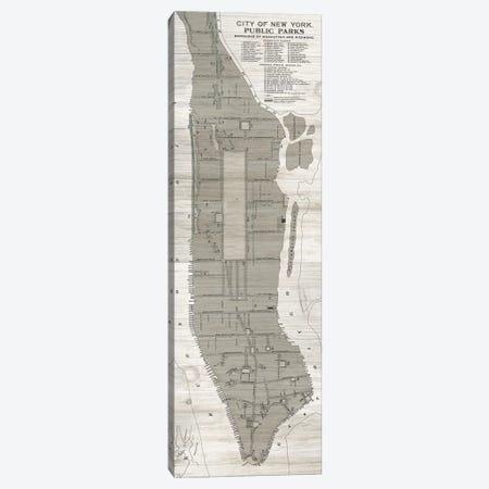 New York Parks Map, Vertical Canvas Print #WAC7353} by Wild Apple Portfolio Canvas Print