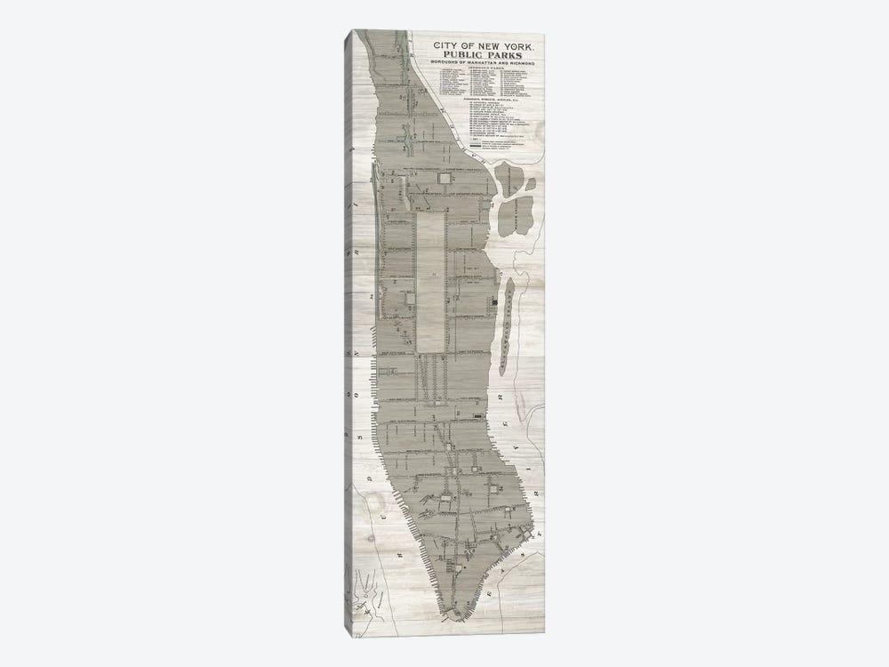 New York Parks Map, Vertical by Wild Apple Portfolio 1-piece Canvas Art