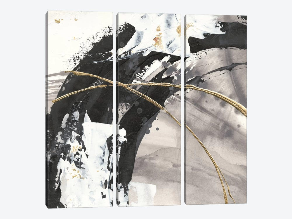Gilded Arcs II by Chris Paschke 3-piece Canvas Wall Art