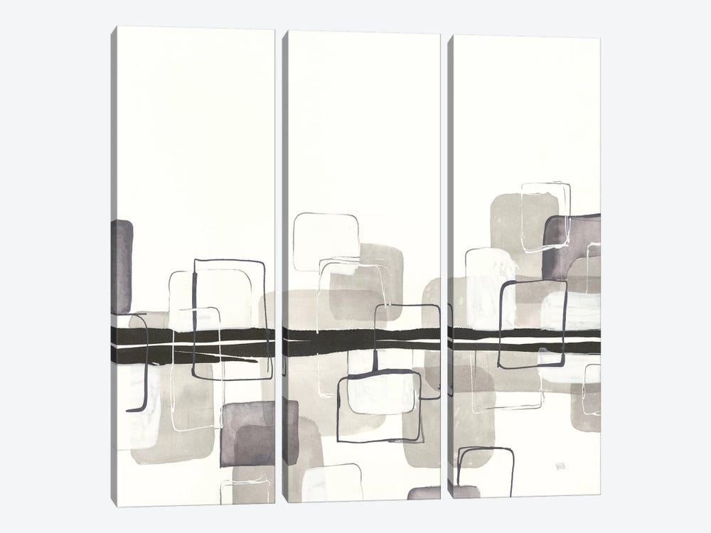 Placid Boxes II by Chris Paschke 3-piece Canvas Wall Art