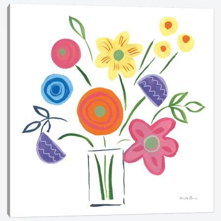 Floral Medley II Canvas Print #WAC7386} by Farida Zaman Art Print