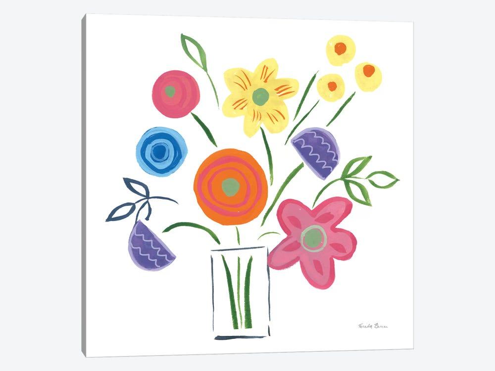 Floral Medley II by Farida Zaman 1-piece Canvas Artwork