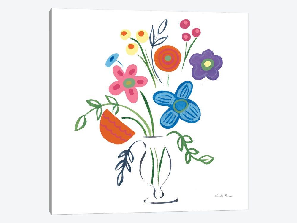 Floral Medley IV by Farida Zaman 1-piece Canvas Artwork