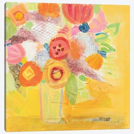 Misty Yellow Floral Canvas Print #WAC7389} by Farida Zaman Canvas Artwork