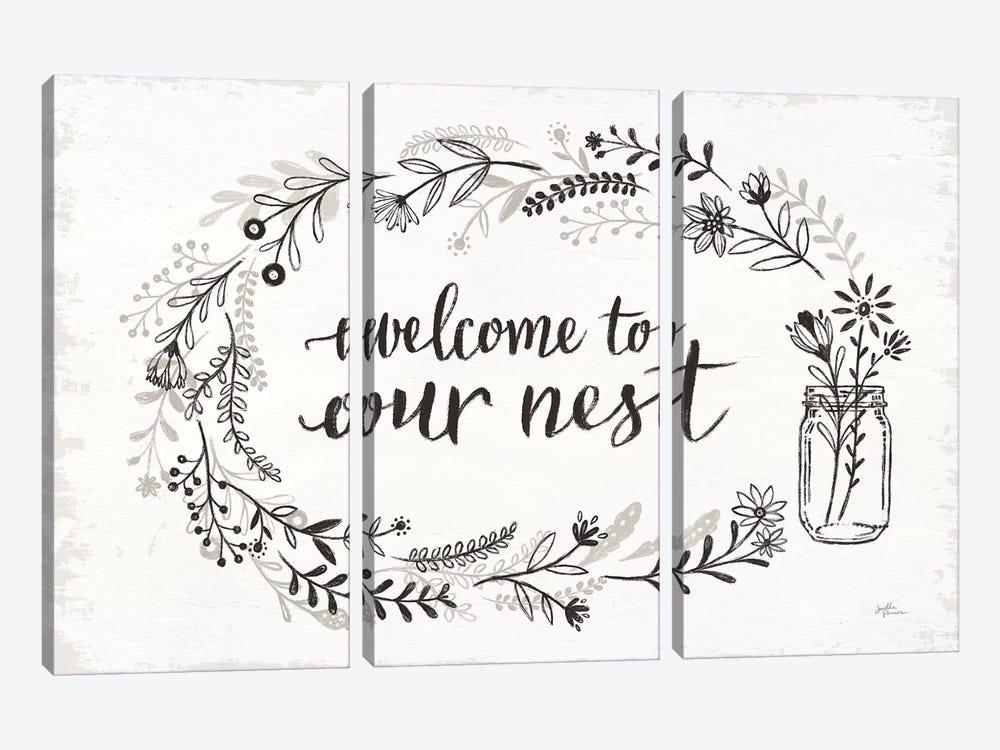 Our Nest I by Janelle Penner 3-piece Canvas Wall Art