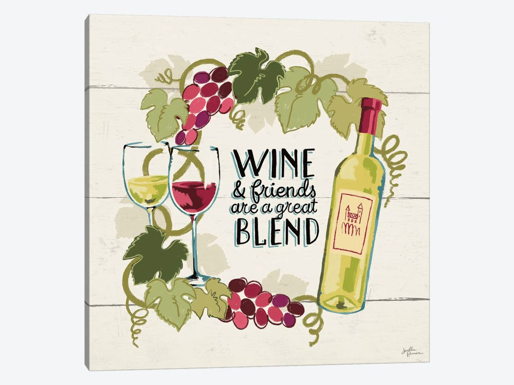 Wine And Friends V by Janelle Penner 1-piece Canvas Art Print