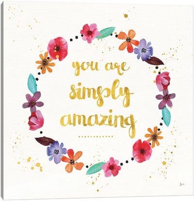 Simply Amazing I Canvas Art Print