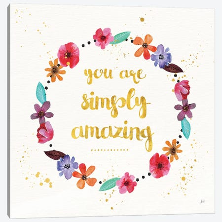 Simply Amazing I Canvas Print #WAC7403} by Jess Aiken Canvas Print