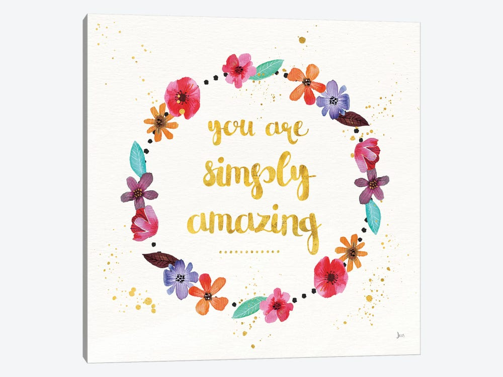 Simply Amazing I by Jess Aiken 1-piece Canvas Wall Art