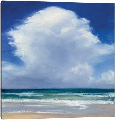 Beach Clouds II Canvas Art Print