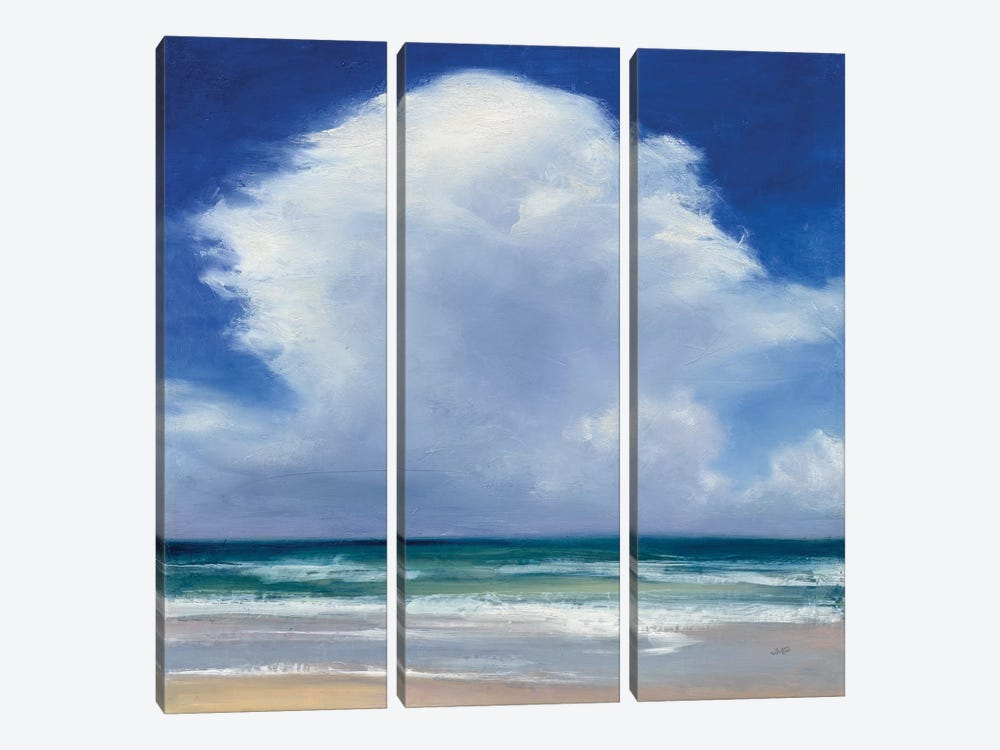 Beach Clouds II by Julia Purinton 3-piece Canvas Art Print