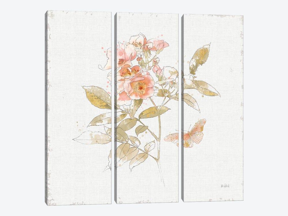 Watery Blooms VI by Katie Pertiet 3-piece Art Print