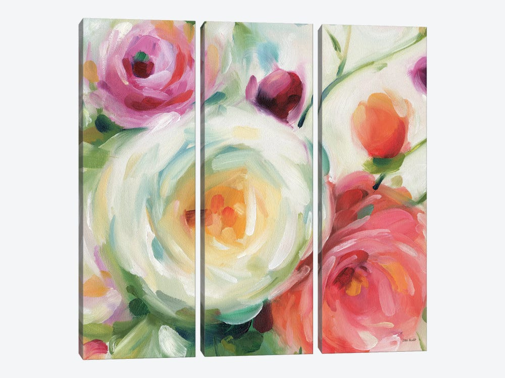 Florabundance II by Lisa Audit 3-piece Canvas Art