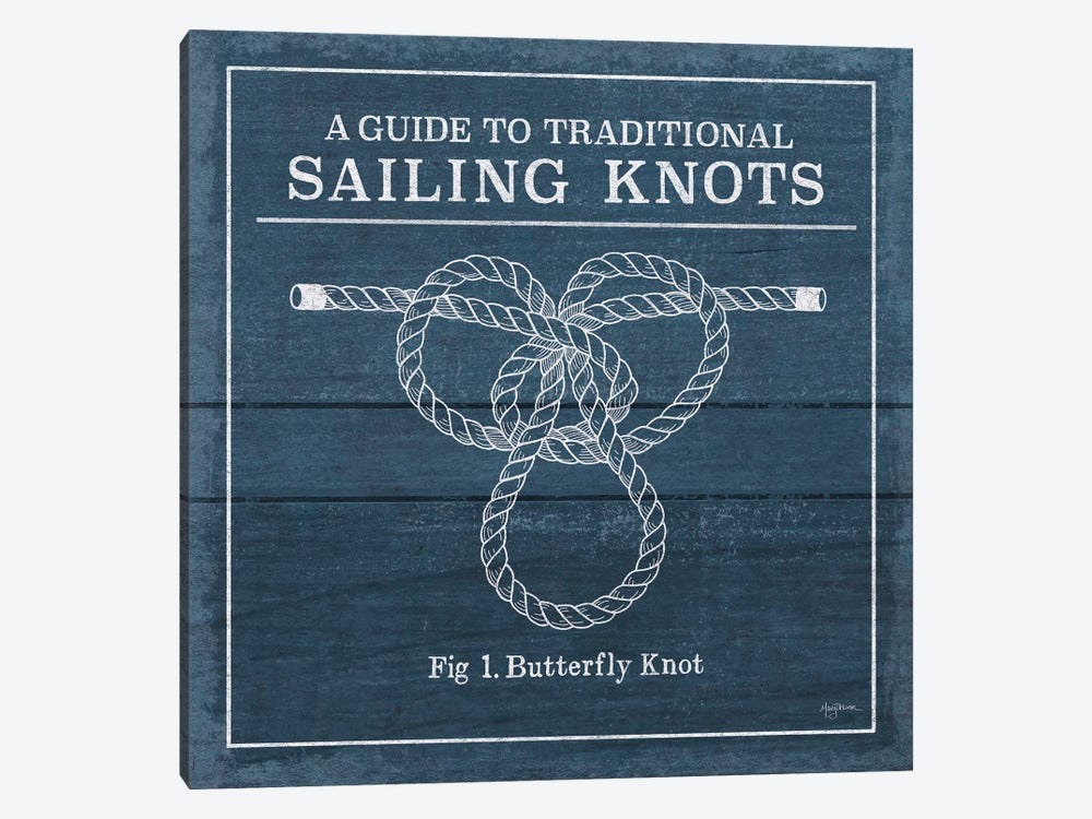 Vintage Sailing Knots II by Mary Urban 1-piece Canvas Art