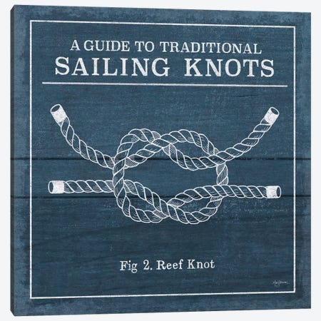 Vintage Sailing Knots III Canvas Print #WAC7431} by Mary Urban Canvas Wall Art