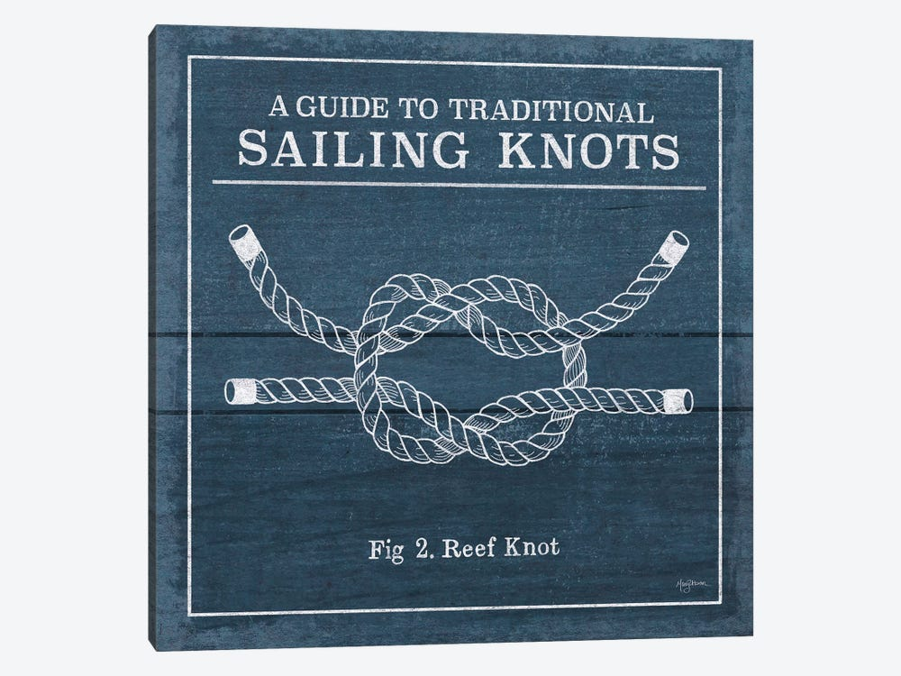 Vintage Sailing Knots III by Mary Urban 1-piece Art Print