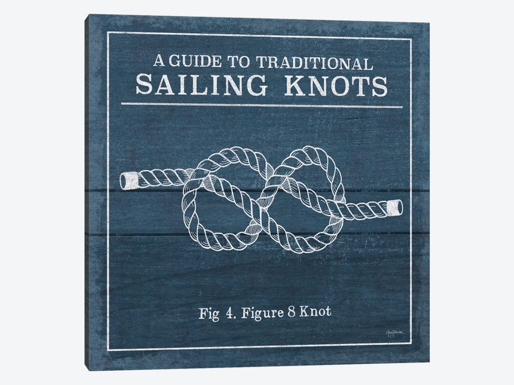 Vintage Sailing Knots IV by Mary Urban 1-piece Canvas Wall Art