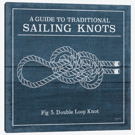 Vintage Sailing Knots V Canvas Print #WAC7433} by Mary Urban Canvas Artwork
