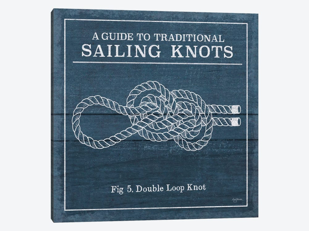 Vintage Sailing Knots V by Mary Urban 1-piece Canvas Print