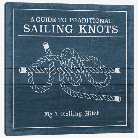 Vintage Sailing Knots VIII Canvas Print #WAC7436} by Mary Urban Art Print