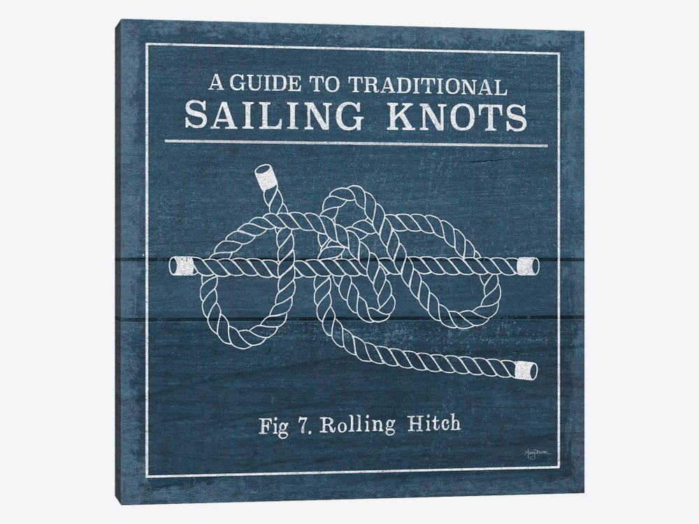 Vintage Sailing Knots VIII by Mary Urban 1-piece Canvas Artwork