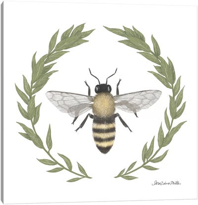 Happy To Bee Home I Canvas Art Print
