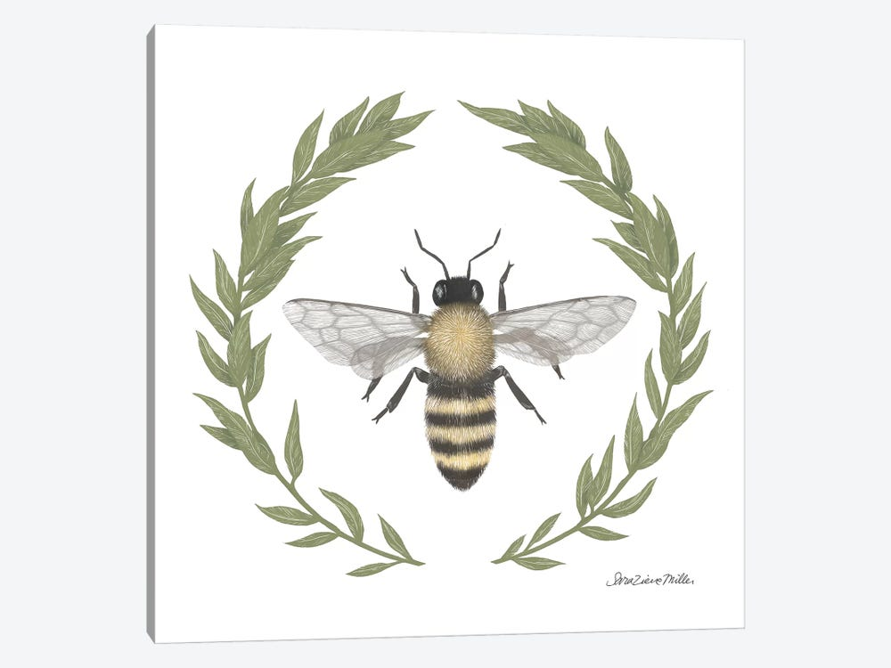 Happy To Bee Home I by Sara Zieve Miller 1-piece Canvas Print