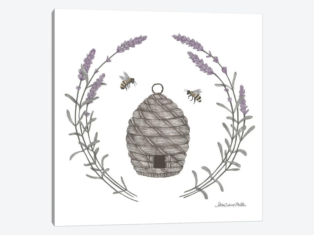 Happy To Bee Home II by Sara Zieve Miller 1-piece Canvas Wall Art