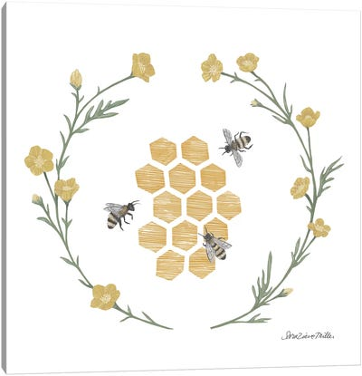 Happy To Bee Home III Canvas Art Print