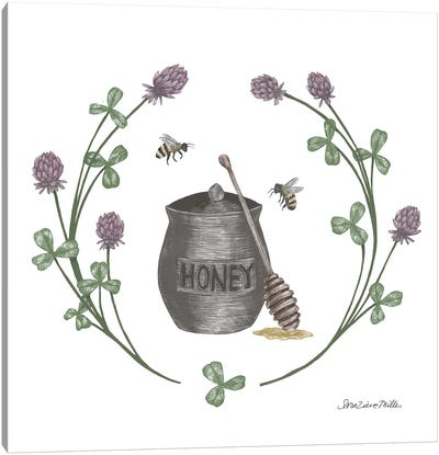 Happy To Bee Home IV Canvas Art Print