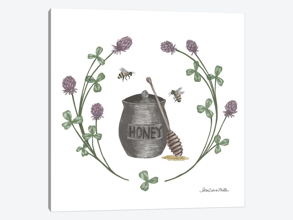 Happy To Bee Home IV by Sara Zieve Miller 1-piece Canvas Wall Art