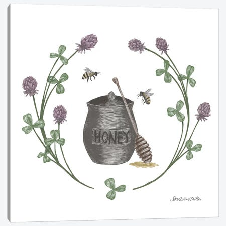 Happy To Bee Home IV Canvas Print #WAC7447} by Sara Zieve Miller Canvas Wall Art
