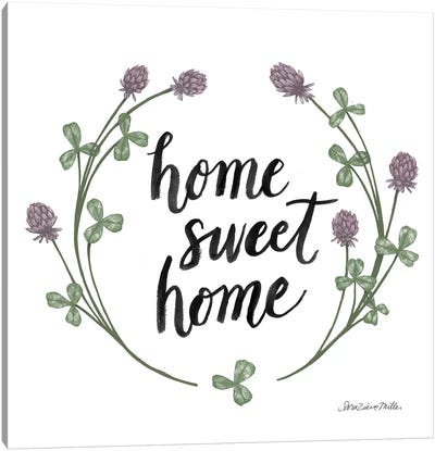 Happy To Bee Home Words I Canvas Art Print