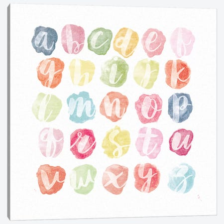 Watercolor Alphabet Canvas Print #WAC7450} by Sarah Adams Canvas Art