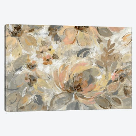 Ivory Floral Canvas Print #WAC7451} by Silvia Vassileva Canvas Wall Art