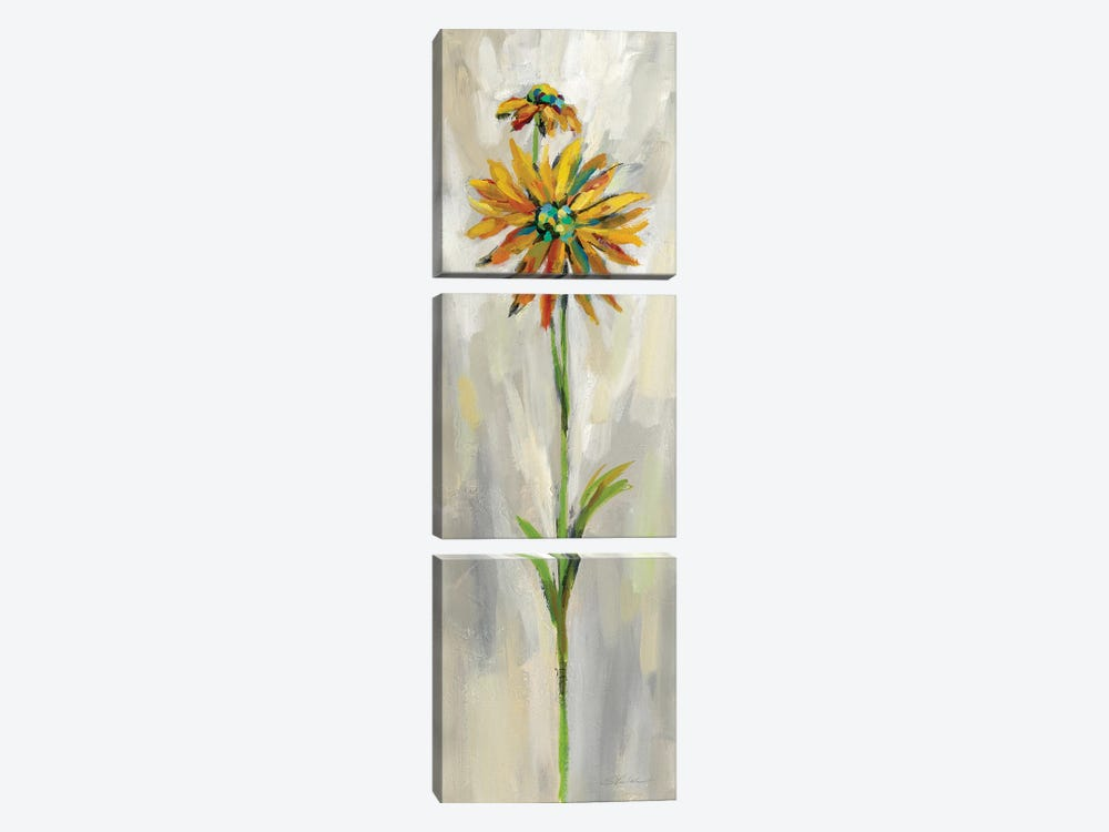 Single Stem Flower III by Silvia Vassileva 3-piece Canvas Art