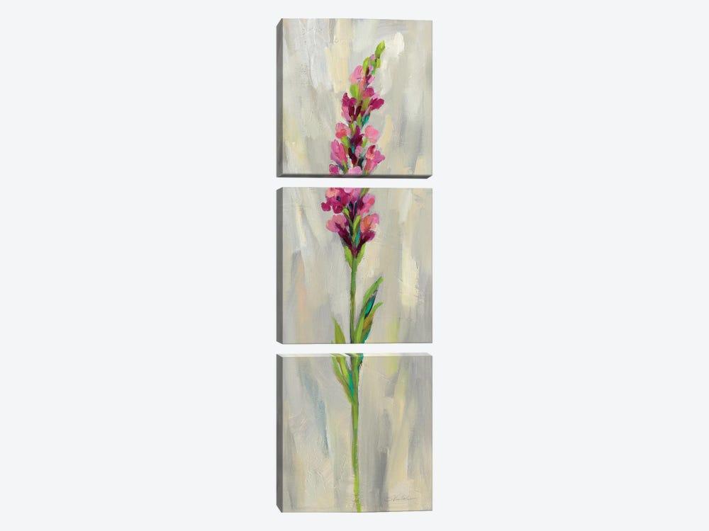 Single Stem Flower IV by Silvia Vassileva 3-piece Canvas Art Print