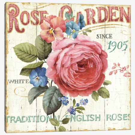 Rose Garden I Canvas Print #WAC745} by Lisa Audit Canvas Wall Art